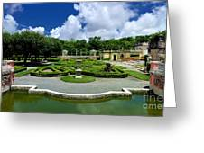 Vizcaya Museum And Gardens Biscayne Bay Miami  Florida Greeting Card by Amy Cicconi