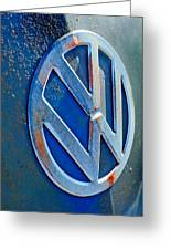 Volkswagen Vw Bus Front Emblem Greeting Card by Jill Reger