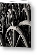 Wagon Wheels Greeting Card by John Nelson