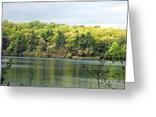 Walden Pond Greeting Card by Catherine Gagne