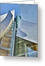 Walt Disney Concert Hall Vertical Los Angeles Ca Greeting Card by David Zanzinger