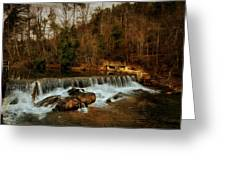 Waterfall Greeting Card by Mario Celzner