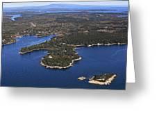 West Deer Isle, Penobscot Bay Greeting Card by Dave Cleaveland