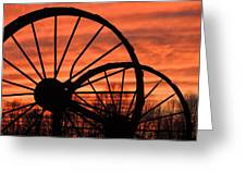 Wheel-n-axle Sunset.. Greeting Card by Matt Taylor