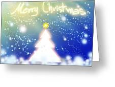 White Christmas Tree Greeting Card by Atiketta Sangasaeng