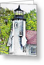White River Station Greeting Card by Bill Richards