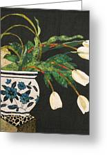 White Tulips Greeting Card by Lynda K Boardman