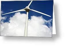 Wind Turbine Greeting Card by Bernard Jaubert