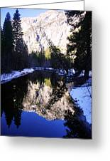 Winter Reflection Greeting Card by Michael Courtney