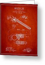 Wrench Patent Drawing From 1896 Greeting Card by Aged Pixel