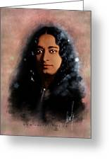 Yogananda Greeting Card by Graphicsite Luzern
