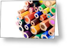 Crayons Greeting Card by Chevy Fleet