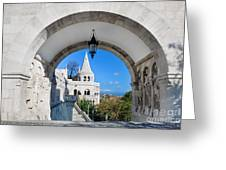 Fisherman's Bastion In Budapest Greeting Card by Michal Bednarek