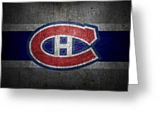 Montreal Canadiens Greeting Card by Joe Hamilton