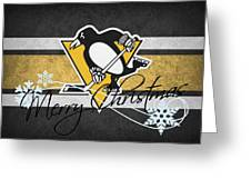 Pittsburgh Penguins Greeting Card by Joe Hamilton