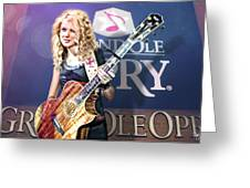 Taylor Swift Greeting Card by Don Olea