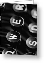 Typewriter Keys Greeting Card by Falko Follert
