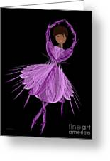 11 Purple Ballerina Greeting Card by Andee Design