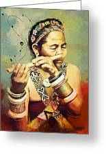 South Asian Art  Greeting Card by Corporate Art Task Force