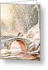 Winter Landscape Greeting Card by Egidio Graziani