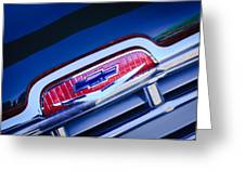 Chevrolet Grille Emblem Greeting Card by Jill Reger
