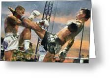 Muay Thai Arts Of Fighting Greeting Card by Rames Ratyantarakor