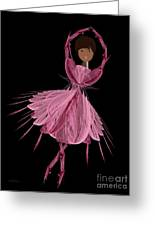12 Pink Ballerina Greeting Card by Andee Design