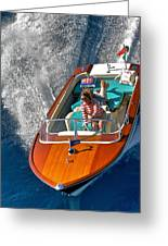 Riva Wake Greeting Card by Steven Lapkin