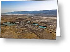 Sinkholes In Northern Dead Sea Area Greeting Card by Ofir Ben Tov
