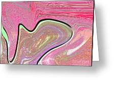 1211 Abstract Thought Greeting Card by Chowdary V Arikatla
