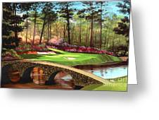 12th Hole At Augusta  Greeting Card by Tim Gilliland