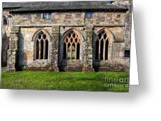 13th Century Abbey Greeting Card by Adrian Evans
