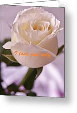 Rose For You Greeting Card by Gornganogphatchara Kalapun