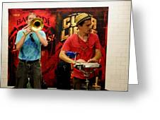14th St Station Greeting Card by Steve Breslow