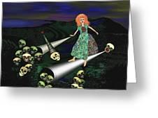165 -   Lindas Nightwalk Greeting Card by Irmgard Schoendorf Welch
