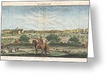 1698 De Bruijin View Of Bethlehem Palestine Israel Holy Land Geographicus Bethlehem Bruijn 1698 Greeting Card by MotionAge Designs