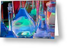 Laboratory Glassware Greeting Card by Charlotte Raymond