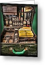 1800's Fingerprint Kit Greeting Card by Lee Dos Santos