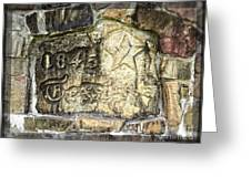 1845 Republic Of Texas - Carved In Stone Greeting Card by Ella Kaye Dickey