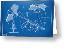 1879 Quinby Aerial Ship Patent Minimal - Blueprint Greeting Card by Nikki Marie Smith