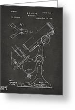 1886 Microscope Patent Artwork - Gray Greeting Card by Nikki Marie Smith