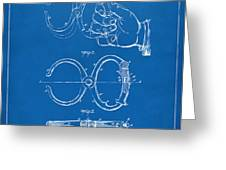 1891 Police Nippers Handcuffs Patent Artwork - Blueprint Greeting Card by Nikki Marie Smith