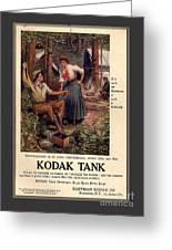 1907 Vintage Kodak Tank Advertising Greeting Card by Anne Kitzman