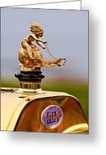 1911 Fiat Tipo 6 Holbrook 4 Passenger Demi-tonneau Hood Ornament Greeting Card by Jill Reger