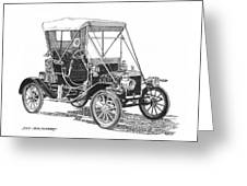 1911 Ford Model T Tin Lizzie Greeting Card by Jack Pumphrey