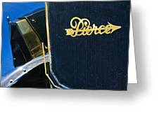 1916 Pierce-arrow 48 Phaeton Grille Emblem Greeting Card by Jill Reger