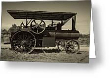 1921 Aultman Taylor Tractor Greeting Card by Debra and Dave Vanderlaan