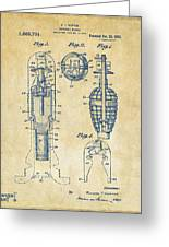 1921 Explosive Missle Patent Vintage Greeting Card by Nikki Marie Smith