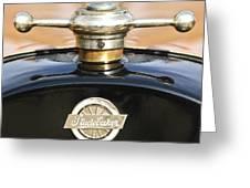 1922 Studebaker Touring Hood Ornament Greeting Card by Jill Reger
