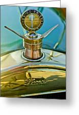 1923 Ford Model T Hood Ornament Greeting Card by Jill Reger